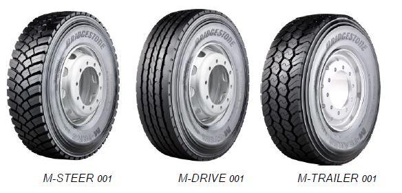 Шины Bridgestone M-Steer 001, Bridgestone M-Drive 001 и Bridgestone M-Trailer 001