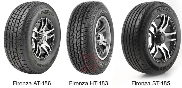 шины Firenza AT-186, Firenza HT-183 и Firenza ST-185